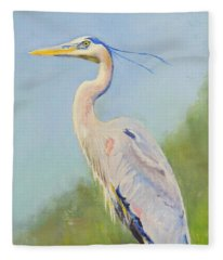 Surveyor - Great Blue Heron Fleece Blanket