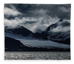 Svalbard Mountains Fleece Blanket