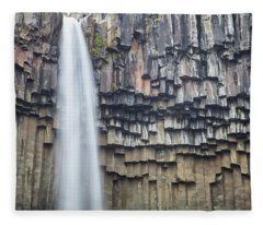 Svartifoss Portrait Iceland Fleece Blanket
