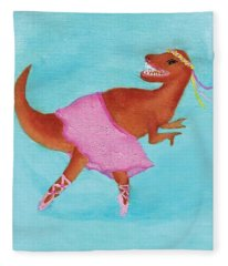 Swan Rex Fleece Blanket