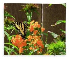 Swallowtail 3 Fleece Blanket