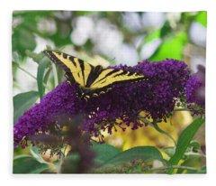 Swallowtail 4 Fleece Blanket
