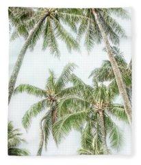 Swaying Palms Fleece Blanket