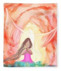 Sweet Hour Of Prayer Fleece Blanket