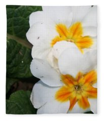 Sweet Primrose Fleece Blanket