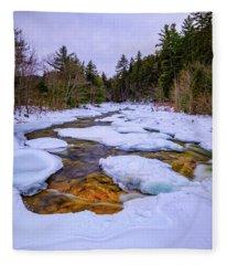 Swift River Winter  Fleece Blanket