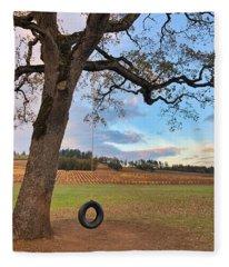 Swing In Tree Fleece Blanket