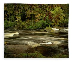 Swirling River Fleece Blanket