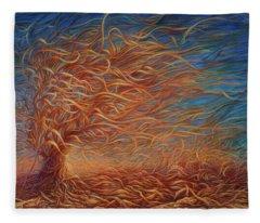 Swirly Tree 2 Fleece Blanket