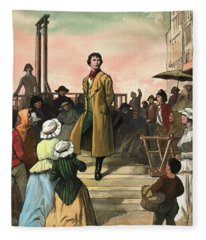 Sydney Carton, From A Tale Of Two Cities By Charles Dickens Fleece Blanket