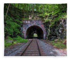 Sykesville Rail Tunnel Fleece Blanket