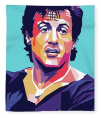 Sylvester Stallone Fleece Blanket