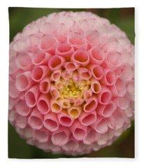 Symmetrical Dahlia Fleece Blanket