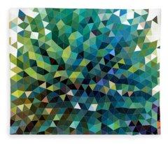 Synchronicity Of Color Fleece Blanket