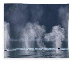 Synchronized Swimming Humpback Whales Alaska Fleece Blanket
