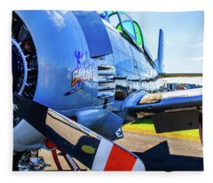 T-28b Trojan Banshee  Fleece Blanket