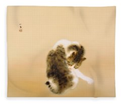 Tabby Cat - Digital Remastered Edition Fleece Blanket