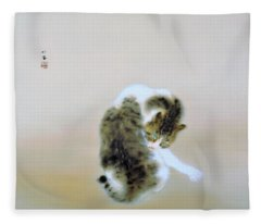 Tabby Cat - Original Color Edition Fleece Blanket