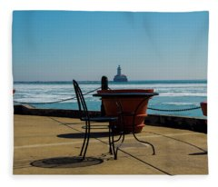 Table For One Fleece Blanket