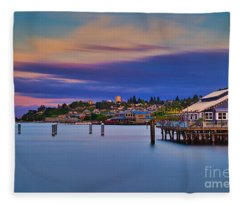 Tacoma, Point Ruston Fleece Blanket