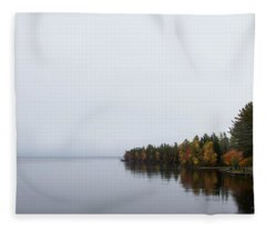 Tahquamenon Rivermouth Fleece Blanket