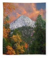 Tahquitz Peak - Lily Rock Painted Version Fleece Blanket