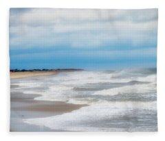 Take Me To Your Beach Town Fleece Blanket