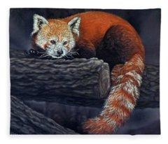 Takeo, The Red Panda Fleece Blanket