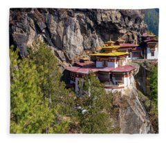 Taktsang Monastery  Fleece Blanket