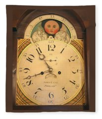 Tall Case Clock Face, Around 1816 Fleece Blanket