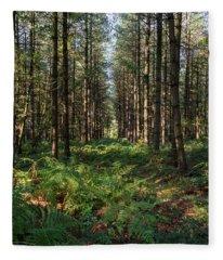 Tall Trees In Sherwood Forest Fleece Blanket