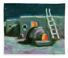 Taos At Night Fleece Blanket