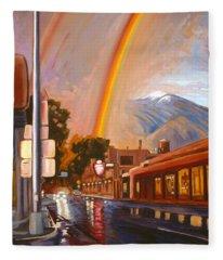 Taos Rainbow Fleece Blanket