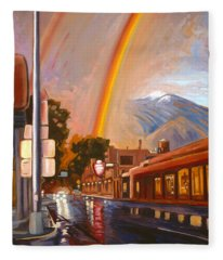 Taos Rainbow Fleece Blanket