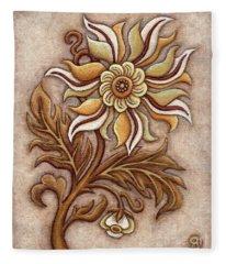 Tapestry Flower 1 Fleece Blanket