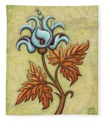Tapestry Flower 2 Fleece Blanket