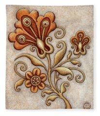 Tapestry Flower 3 Fleece Blanket