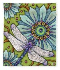 Tapestry Dragonfly Fleece Blanket