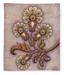 Tapestry Flower 4 Fleece Blanket
