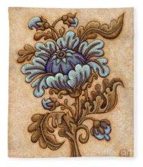 Tapestry Flower 5 Fleece Blanket
