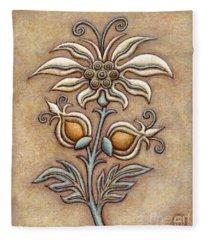 Tapestry Flower 9 Fleece Blanket