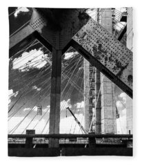 Tappan Zee Bridge - Old One Fleece Blanket