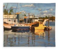 Tarpon Springs Harbour Fleece Blanket