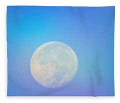 Taurus Almost Full Moon Blend Fleece Blanket