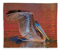 Tchefuncte Pelican Fleece Blanket