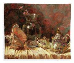 Tea By The Sea Fleece Blanket