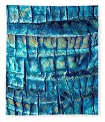 Teal Palm Bark Fleece Blanket