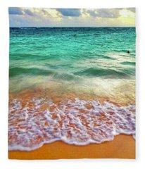 Teal Shore  Fleece Blanket