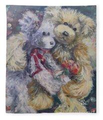Teddy Bear Honeymooon Fleece Blanket