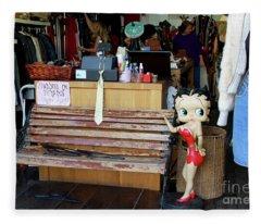 Tel Aviv Flea Market Fleece Blanket